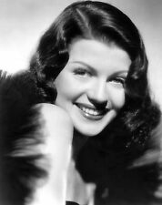 Rita Hayworth Film Star Glossy Black & White Photo Print Picture