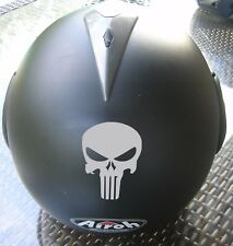 2 STICKER AUTOCOLLANT TETE DE MORT CASQUE SKULL PUNISHER MOTO SCOOTER VELO QUAD