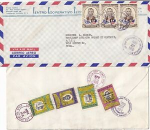 K501 Honduras 12 different stamped covers postcard mainly UK USA;  1951 - 1992