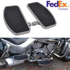 Pair Motorcycles Front & Rear Foot Boards Floorboards for Harley Honda Yamaha
