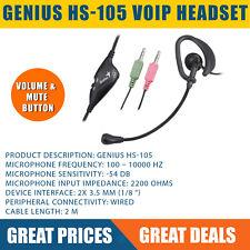 Genius HS-105 Single in Ear-Bud Clip VoIP Headset
