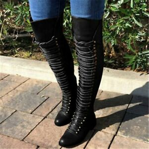 Women Shoes Thigh High Boots Female Big Size Faux High Boots Over Knee Boots