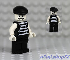 "LEGO - Mime Minifigure ""Happy Face"" Clown Circus Actor Minifig Series 2 Custom"