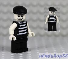 "LEGO - Mime Minifigure ""Happy Face"" Clown Circus Actor Minifig Series 2 Custom"
