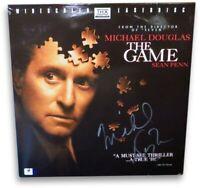 Michael Douglas Autographed Laserdisc Cover The Game Discs Included GV865038