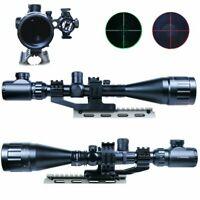 6-24x50 Rifle Scope Hunting Mil-dot Illuminated & Red Laser Sight Combo