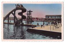 Africa real photo postcard Morocco Casablanca Le Toboggan de la Piscine