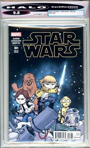 Star Wars #1 - HALO Graded (9.8 NM/M) 2015 - First Issue Variant - Discounted!
