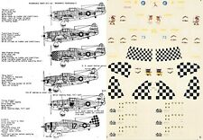 MICROSCALE DECALS 1/72 P-47D Thunderbolt 56th 78th 325th 348th 352nd FG (USAAF)