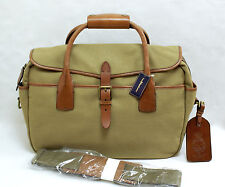 $325 POLO RALPH LAUREN MESSENGER COMMUTER BAG BRIEFCASE CANVAS / LEATHER NEW