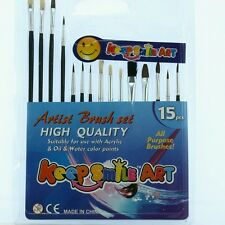 Artists Brush Set - 15 brushes