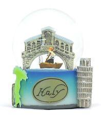 Italy Snow Snow, Venice, Pisa And Rome Souvenir, Italian Landmarks Snow Globes