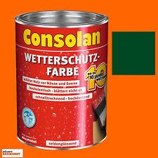 Consolan Wetterschutzfarbe moosgrün 2,5 Liter Holzschutz Schutzfarbe Schutz Neu