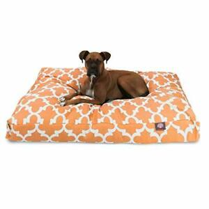 Peach Trellis Extra Large Rectangle Indoor Outdoor Pet Dog Bed With Removable...
