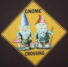 Gnome Crossing Sign 16 1/2 by 16 1/2 New picture gnomes decor novelty signs