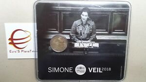 coin card 2 euro 2018 FRANCIA Simone VEIL France frankreich Frankrijk 法国 フランス