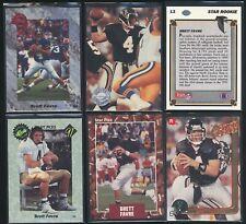 LOT x6 1991 BRETT FAVRE rookie RC Falcons Packers
