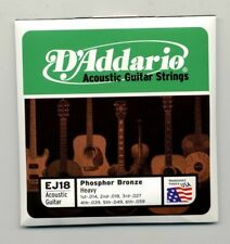1 PKG D'ADDARIO ACOUSTIC GUITAR STRINGS EJ18 PHOSPHOR BRONZE / HEAVY 14-59