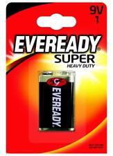 1 x Eveready Super Heavy Duty 9V Battery Long-Lasting Power Multi-Purpose New