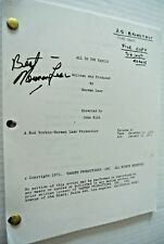 Norman Lear Authentic Signed 8.5x11 All In The Family TV Episode 1 file Script