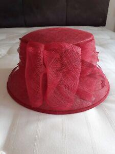 Ladies Formal Red Hat