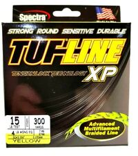 BRAID TUF-LINE XP 15lb yellow 300yards Spectra advanced multifilament line USA