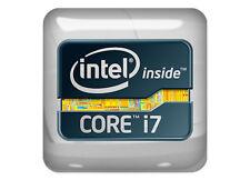 "Intel i7 Extreme inside 1""x1"" Chrome Domed Case Badge / Sticker Logo"