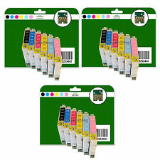 18 Cartouches d'encre pour Epson R200 R220 R300 R300M R320 R340 non-OEM e481-6