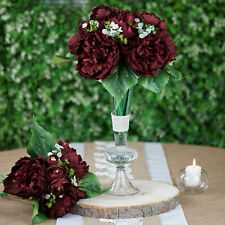 "12"" Silk Artificial Peony Flowers Bouquet Wedding Party Centerpieces Home"