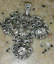 Great Gift!  Marcasite Rose Pendant Sterling Silver