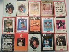 ELVIS PRESLEY VG+ 8TRACK COLLECTION LOT OF 15 Incl. Vol 1 and Vol 2+Today