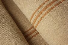 Grain sack grainsack fabric vintage linen 10.8yds material upholstery Washed old