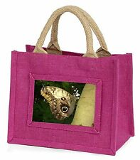 Owl Butterfly on Tree Little Girls Small Pink Shopping Bag Christmas , IBU-13BMP