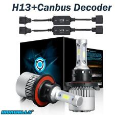 H13 9008 LED Headlights Conversion Kits 1500W 6000K Hi/Lo + Canbus Free Decoder
