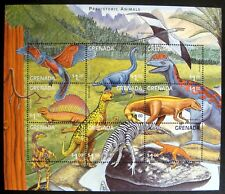 1999 MNH GRENADA DINOSAUR STAMPS SHEET PREHISTORIC WILD ANIMALS BRACHIOSAURUS