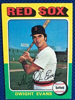 1975 TOPPS #255 DWIGHT EVANS(Boston Red Sox)  Baseball Card