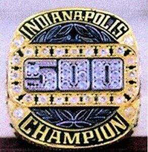 2018 INDY 500 102nd Running Motor Cup Championship Ring WOOD DISPLAY BOX SZ 14