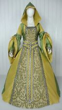MEDIEVAL RENAISSANCE TUDOR WEDDING HANDFASTING LARP GOWN DRESS COSTUME (24C)