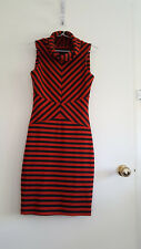 Cue hourglass-enhancing striped suit dress - size 6 - made in Australia
