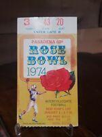 VINTAGE 1974 ROSE BOWL COLLEGE FOOTBALL TICKET STUB OHIO STATE VS USC ORIGINAL