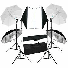 Photography Continuous Softbox Lighting Kit Photo Studio Umbrella Lighting Set