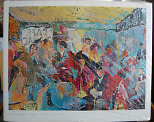 "LeRoy Neiman ""PARIS: SIDEWALK CAFE"" vintage Pencil Hand-Signed Lithograph"