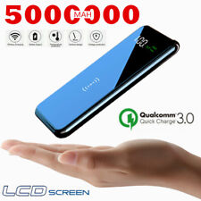 2020 Hot 5000000mAh Qi Wireless PowerBank Fast Charging LCD Battery Pack Charger