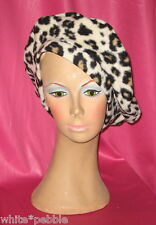 Handmade Beret - Fleece - Leopard Print - One size fits most