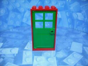 Lego - Doors - Green Door and Red Frame - 2x4