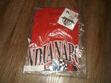 Vintage NEW Logo Athletic INIDANAPOLIS INDY 500 T Shirt Sz XL Red Cotton