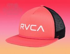 bb56f1e8 New RVCA Foamy Mens Pink Black Mesh Snapback Trucker Cap Hat