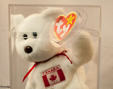 "Ty ""MAPLE "" Canada Beanie Bear  Rare Swing Tag Error Mint New 1996 Two Tush Tags"