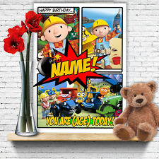 EXTRA LARGE Bob the Builder **Personalised A4 Birthday Card** FAST Shipping