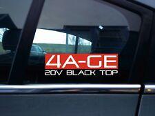 4AGE 20V BLACK TOP sticker for AE101 Corolla Levin | Sprinter Trueno | 20 valve